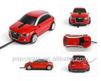 Wired Red 3D USB Car Shape Mouse 800 DPI Optical Mice PC Laptop Computer