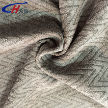 Minky cuddle embossed chevron silver and many other colors sofa fabric velvet from China Zhejiang