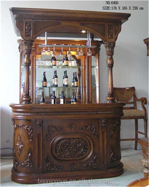 Estilo vitoriano antigo esculpido m veis bar bar casa de for Modelos de barras de bar para casas