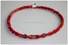 St. Louis Cardinals Red Double Rope Tornado Titanium Sports Necklaces