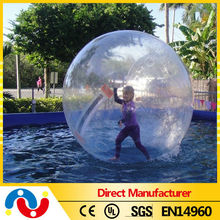 2015 Popular Best Selling Crazy floating water pool ball inflatable PVC/TPU water ball