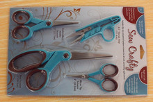4 pcs sewing and craft scissors value pack, scissors set, high quality sew craft scissors set