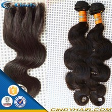 high quality body wave wholesale and retail brazilian virgin hair bundles with lace closure