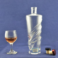Hot new fancy wine vodka different types of 750ml alcohol glass bottles