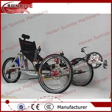 China três rodas de bicicleta, três rodas de bicicleta reclinada