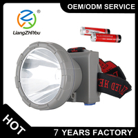 Most power long range headlamp torch , 10W T6 led rechargeable hunting headlight