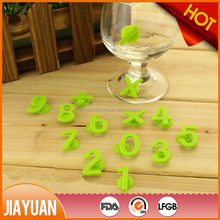 silicone rubber wine glass charms & suction cup wine glass marker