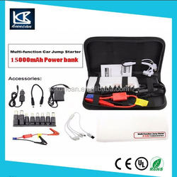 car battery jump starter connect jumper cables to jump start 6L gas car