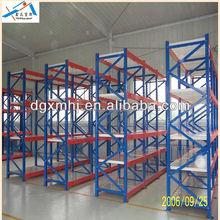 Stable adjustable medium duty storage system racking