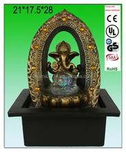 indoor Indian God fountain brass ganesh statue