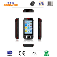 China manufacturer smart phone 4.3 Inch 3G/WIFI/GPS/GPRS/RFID reader/fingerprint sensor/ rugged barcode scanner mini usb android