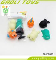 Eco-friendly PVC plastic bath animal toy lovely sea animal shape bath toy