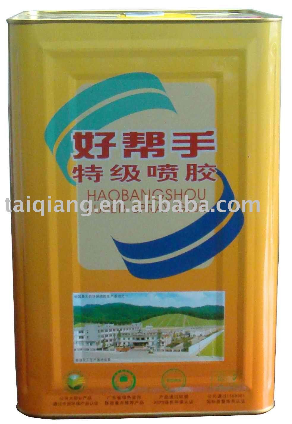 Neoprene spray glue for fireproof boards