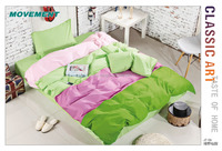 100% cotton king/Queen size printed bed linen sets