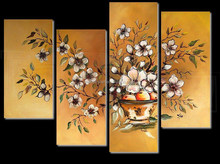 Golden background multiple panels canvas group paintings modern wall decorative art ictures