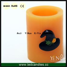 Battery Flickering Flameless Halloweeen Decorative Candle w/ Timer