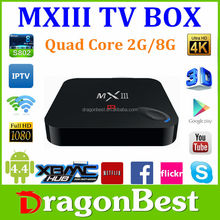 New product of 2015 Tv box mx3 Android 4.4 TV BOX mx lll MX3 xbmc Preinstalled 2GB DDR 8GB Flash quad core android 4.4