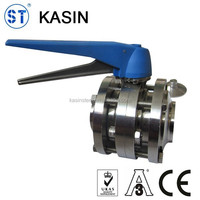 Stainless Steel Sanitary 3 Pieces Butterfly Valve