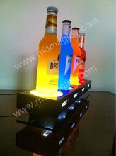 Manufacturers selling bottle glorifiers led light base, aluminum wine bottle display base with led