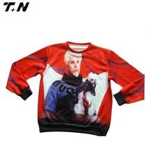 hot red printing pullover women clothing/womens sweatshirt