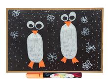 Liquid Chalk Markers Used on Windows, Labels, Cafe, Chalkboard. Water based wet wipe erasable paint pen - 4.5 mm Bullet Tip