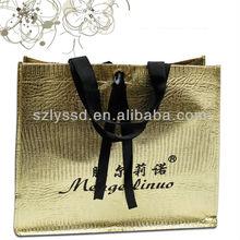 Fancy golden laminated non woven shopping bag