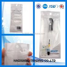 plastic tote bag with zipper /zipper bag for pen