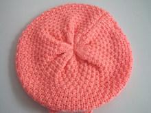 Winter Warm Cute Baby Kids Girls Toddler Knit Beanie Crochet Hat Cap color Pink