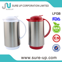 Simple design stainless steel outer glass inner thermos water jug(JGAT)