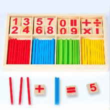 wood learning count toy, education toy for preschool