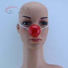 Plastic Clown Nose LED Red Clown Nose With Elastic