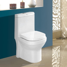 One Piece Single Flush ceramic toilet with Soft Seat Cover