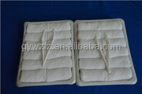 disposable cotton airline towels packed in tray