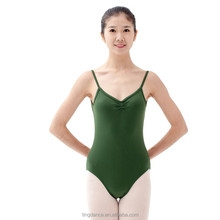 folded front high back adult leotard