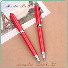 hot selling OEM promotional metal red liquidly ink pen