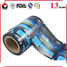 Automatic plastic packaging roll film