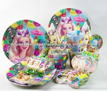 Wholesale childrens party themes/kids Partyware /Girls Birthday Party Supplies Tableware