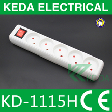 Holland power Extension Socket 5 way outlets with KEMA CE approved
