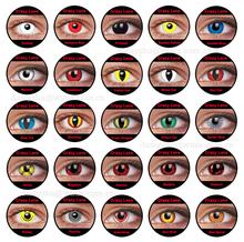 Halloween lentes de contacto loca sharingan por mayor de lentes de contacto de color barato