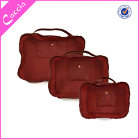 Fashion Polyester travel cosmetic bag for toilet