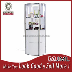 Portable Round Display Case,Top Light,Clear Acrylic