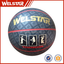 Full color rubber material basketball