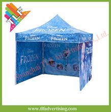 Advertising dye sublimation printing hexagon 50mm aluminum easy up gazebo tent