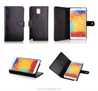Genuine Leather Folio With Card Slot Case for Samsung Galaxy Note 3 Black