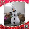 Hola 2015 ce para adultos traje de la olaf, la olaf muñeco de nieve de la mascota de disfraces para adultos