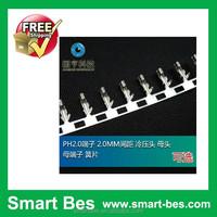 Smart Bes~PH2.0 terminal,2.0 MM spacing cold-press female female terminal,reeds