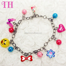 custom girl accessory handmade DIY beaded bracelet resin love bead charm fashion bracelet