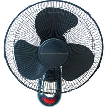 16inch hot selling wall fan with black color and remote control