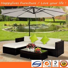 MT2800 Hotsale Fairy Garden Furniture l shape sofa cover with paraguas