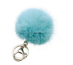 hot sale rabbit fur balls fur poms fur pompom keychain